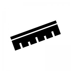 定規・ものさしの白黒シルエットイラスト04