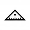 三角定規の白黒シルエットイラスト06