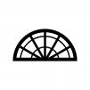 分度器の白黒シルエットイラスト03