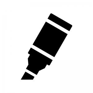 マーカー蛍光ペンのシルエット 無料のaipng白黒シルエットイラスト