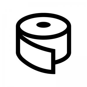 テープの白黒シルエットイラスト02
