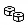 テープの白黒シルエットイラスト03