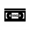 VHSビデオテープの白黒シルエットイラスト02
