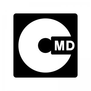MD(ミニディスク)の白黒シルエットイラスト02