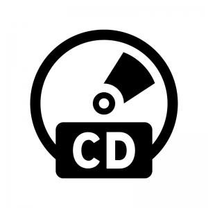 CDの白黒シルエットイラス02