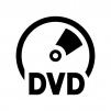 DVDの白黒シルエットイラスト