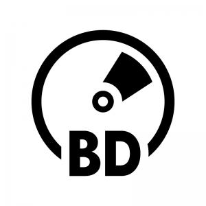 BD(ブルーレイ)の白黒シルエットイラスト