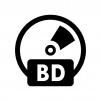 BD(ブルーレイ)の白黒シルエットイラスト02