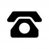 黒電話の白黒シルエットイラスト