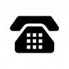 プッシュ電話の白黒シルエットイラスト