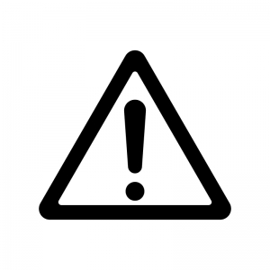 危険・注意警告マークの白黒シルエットイラスト02