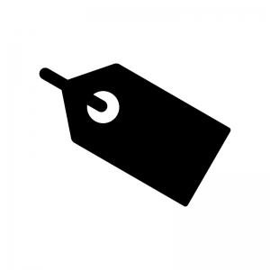 タグの白黒シルエットイラスト