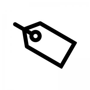 タグの白黒シルエットイラスト02