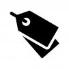 タグの白黒シルエットイラスト03