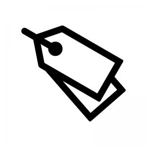 タグの白黒シルエットイラスト04