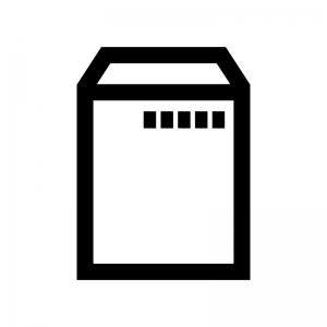 封筒の白黒シルエットイラスト02