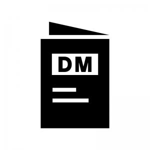 DM・パンフレットの白黒シルエットイラスト02