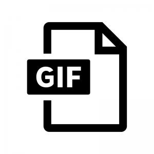 GIFファイルの白黒シルエットイラスト