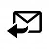 返信メールの白黒シルエットイラスト02