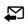 返信メールの白黒シルエットイラスト03
