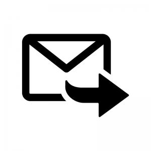 転送メールの白黒シルエットイラスト02