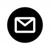 白抜きのメールの白黒シルエットイラスト
