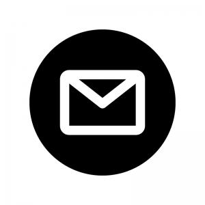 白抜きのメールのシルエット 無料のaipng白黒シルエットイラスト