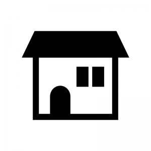 家(ホーム)の白黒シルエットイラスト05