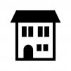 家(ホーム)の白黒シルエットイラスト06