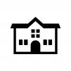 幼稚園・保育園の白黒シルエットイラスト