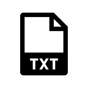 TXTファイルの白黒シルエットイラスト02