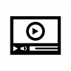動画プレイヤーの白黒シルエットイラスト02