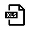 XLSファイルの白黒シルエットイラスト