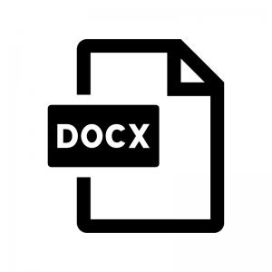 DOCXファイルの白黒シルエットイラスト