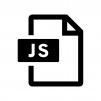 JSファイルの白黒シルエットイラスト