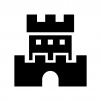 お城・砦の白黒シルエットイラスト