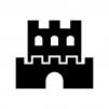 お城・砦の白黒シルエットイラスト04