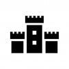 お城・砦の白黒シルエットイラスト05
