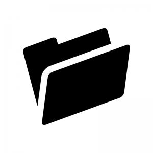 フォルダの白黒シルエットイラスト03