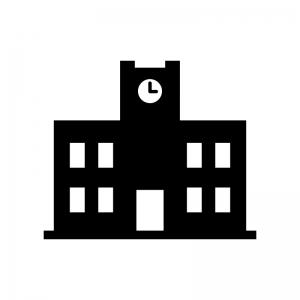 大学の白黒シルエットイラスト02