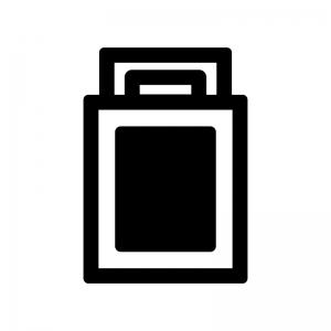 布団の白黒シルエットイラスト02