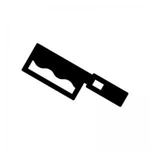 中華包丁の白黒シルエットイラスト03