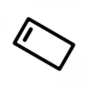 まな板の白黒シルエットイラスト02