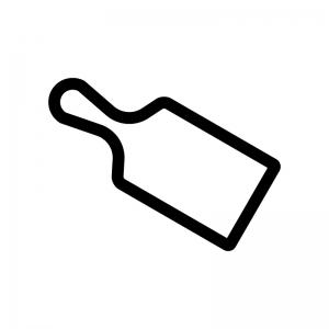 カッティングボードの白黒シルエットイラスト
