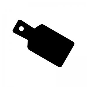 カッティングボードの白黒シルエットイラスト02