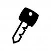 鍵の白黒シルエットイラスト04