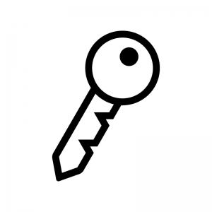 鍵の白黒シルエットイラスト05