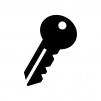 鍵の白黒シルエットイラスト06