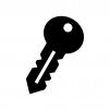 鍵の白黒シルエットイラスト07