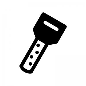 ディンプルキー・鍵の白黒シルエットイラスト